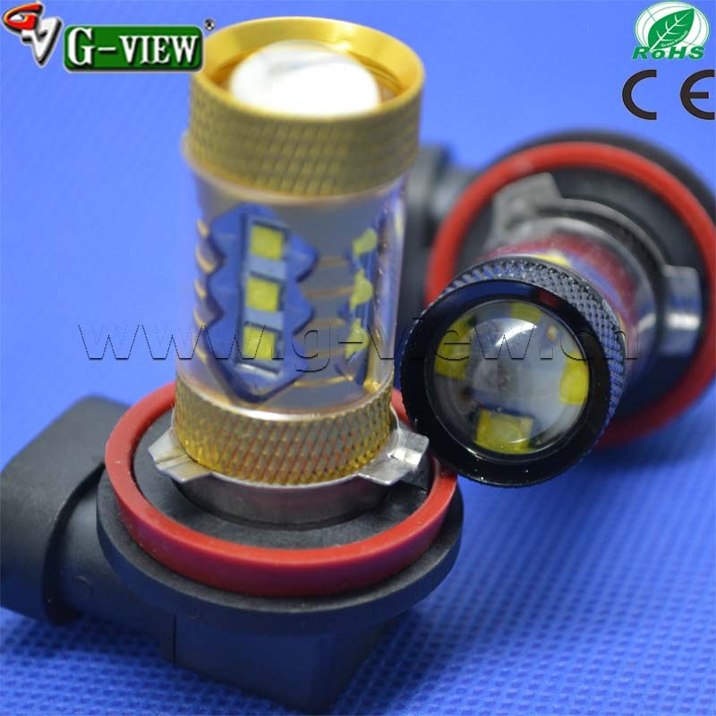 2016 hottest led light for car multicolor highpower 80w Creechip auto foglamp