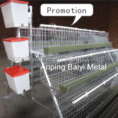 Galvanized nigeria poultry farming chicken cage system