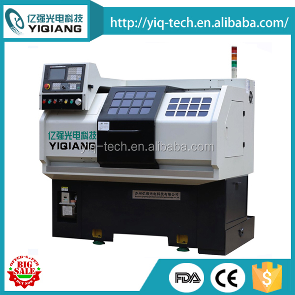 High precision flat bed small CNC lathe machine for metal shaft YQCKX25/30