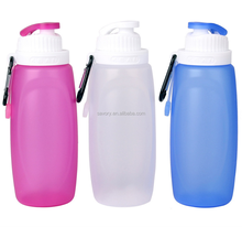 China wholesale sport travel bike collapsible folding silicone water bottle