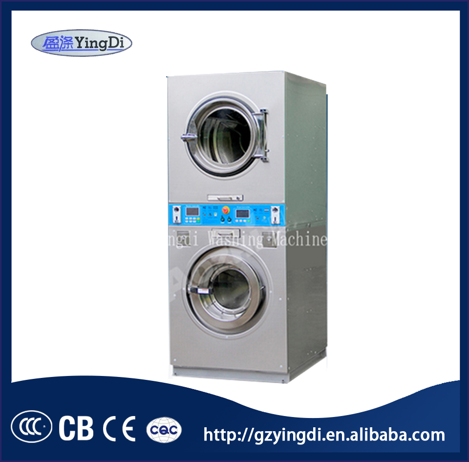 Chinese supplier cheap price 12kg coin operated stack washer and dryer all in one machine for sale
