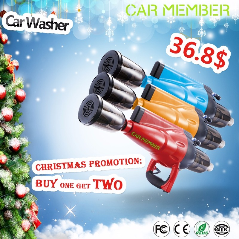 Car Member 1700W Battery Powered Multifunctinal High Pressure Car Washer Machine for Drying Washing and Dust Absorption