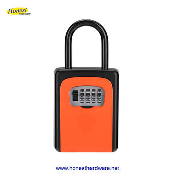 safety key storage lock box with shackle