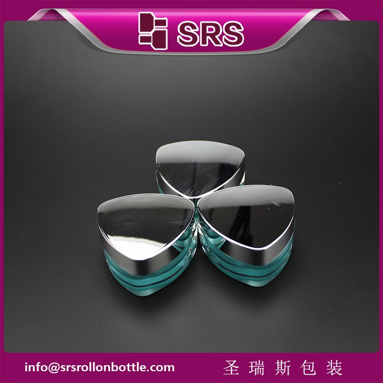 SRS free sample empty acrylic cosmetic 15ml plastic container