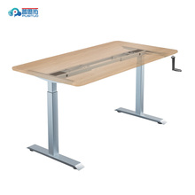 Hand crank Manual height adjustable modern office Sit stand working desk SY01