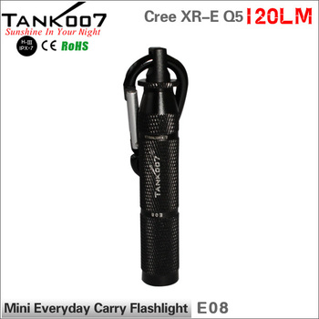 One mode 120 lumen bright compact small EDC flashlight E08