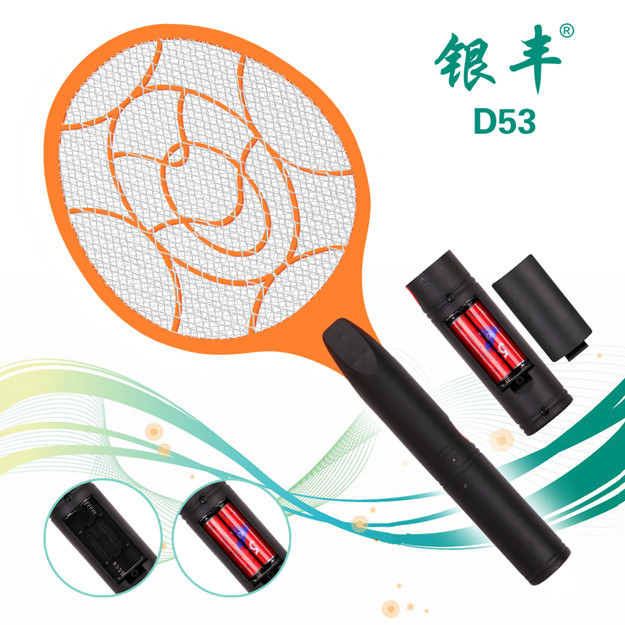 D53 battery mosquito killer, battery operated mosquito repellent, bug zapper racket
