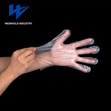 High quality transparent pe disposable cotton vinyl pvc gloves food grade