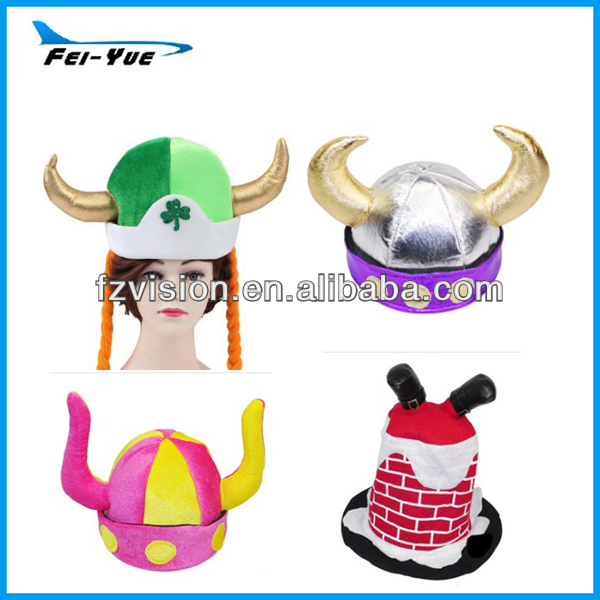 Customized Plush Devil Horn Carnival Party Hats