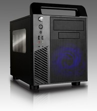 Hot selling window side slim cube micro ATX computer case support ATX power supply