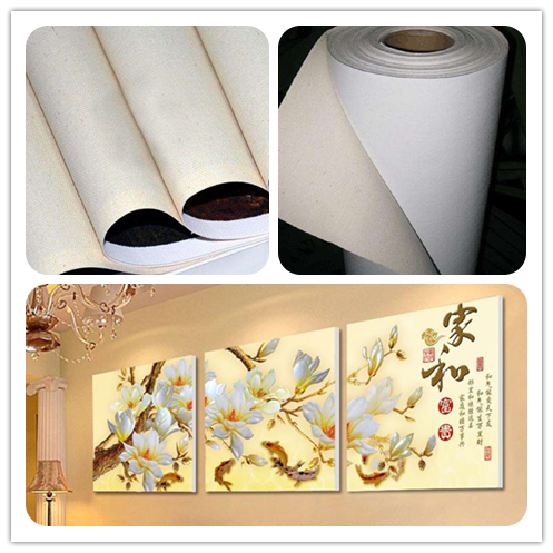 Printed blank Inkjet Polyester Cotton Art canvas (Pigment/Solvent/Latex) in roll
