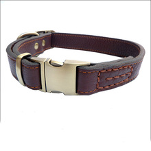 Manufacturer Wholesale Making Personalized Fashion Pet Cowhide Leather Dog Collars