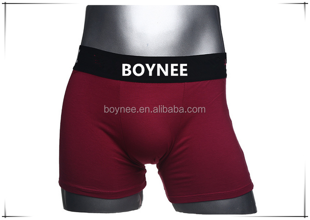 China Factory Design Your Own Brand Logo On Waistband Of Micro Man Underwear Boxer