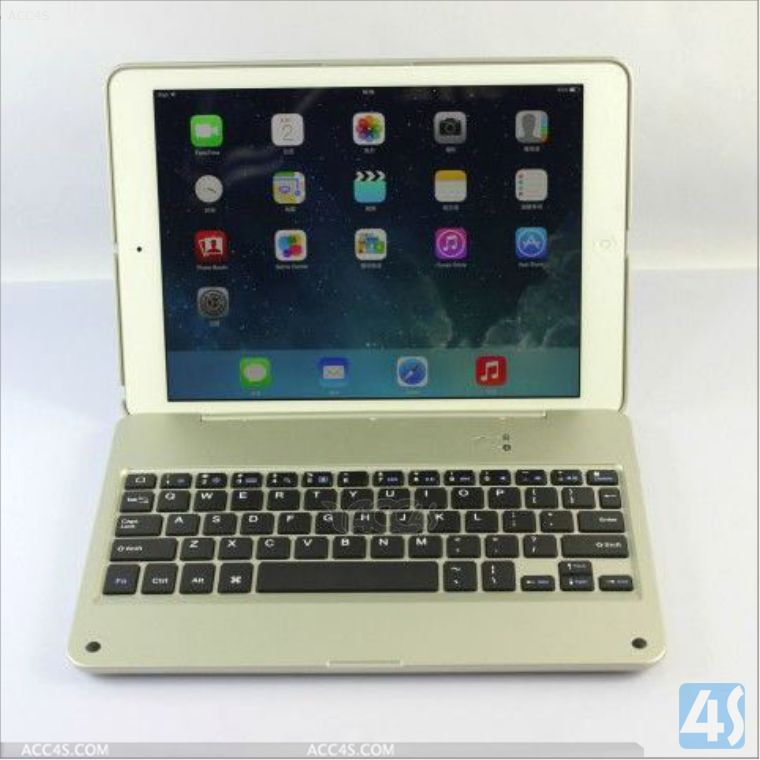 for ipad air bluetooth keyboard leather case, Aluminum bluetooth keyboar fo ipad air P-IPD5BTHKB003