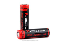 Brillipower aw18650 2500mAh 3.7v 35A li-ion lithium rechareable battery
