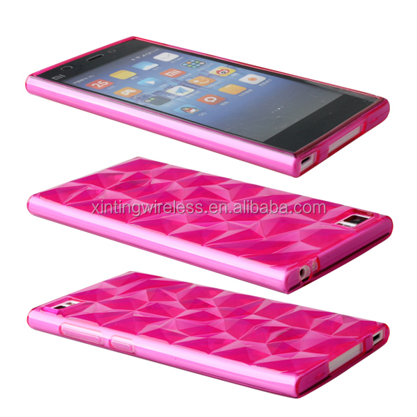 New Items Hot pink Diamond Tpu Case For XiaoMi 4