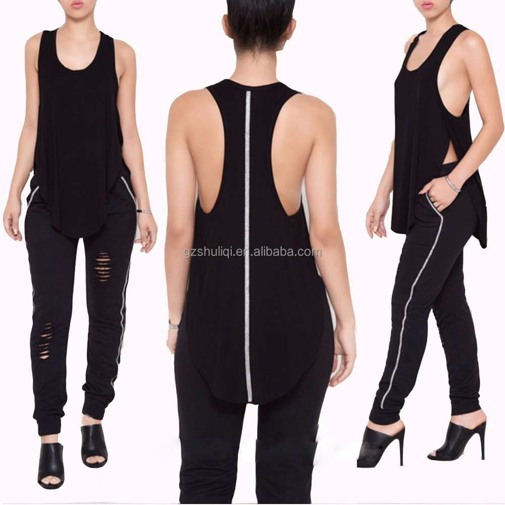 top tank finely knit women's wholesale open side bulk low prices made in pakistan