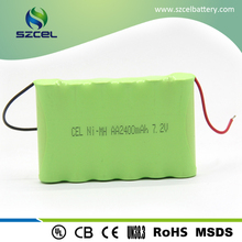 AAA 7.2V 2400mah 6S1P NI-MH battery pack Ni-MH rechargeable Battery for LED light