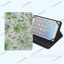New universal tablet case cover with OEM printing flowers for flip tablet covers& case