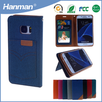 Hot new products pu flip leather cellphone case for samsung galaxy folder
