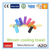 instant cooling towel polyester80% nylon20% for hot weather outdoor work