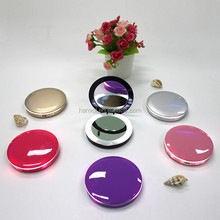 new design portable lighted makeup pocket mirror with power bank