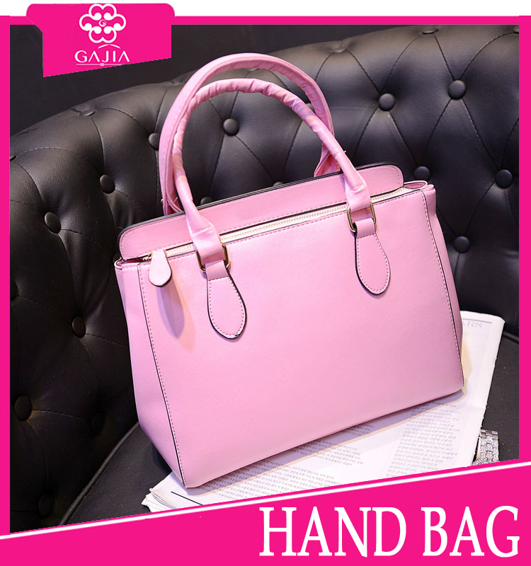 On Sale! latest fashion pink lady tote bags elegant wholesale good quality fancy handbags ladies 2015 from China