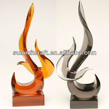 Fashion designed clear resin crystal fire shape craft