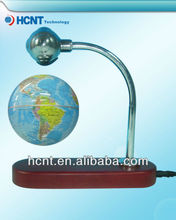Levitating and rotating map display stand