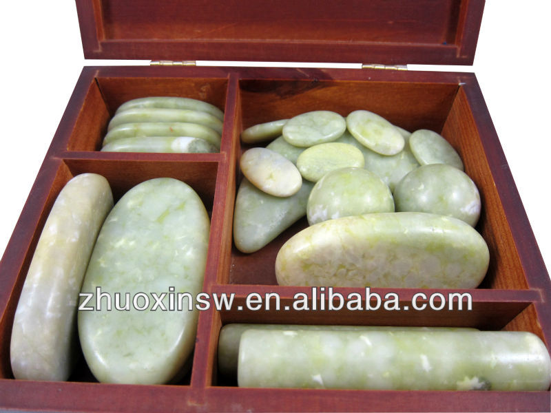 hot sale 18 pcs/set jade massage stone with factory supply