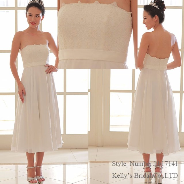 kb17141New style lace Bridesmaid Dress ankle-Length Evening Dress