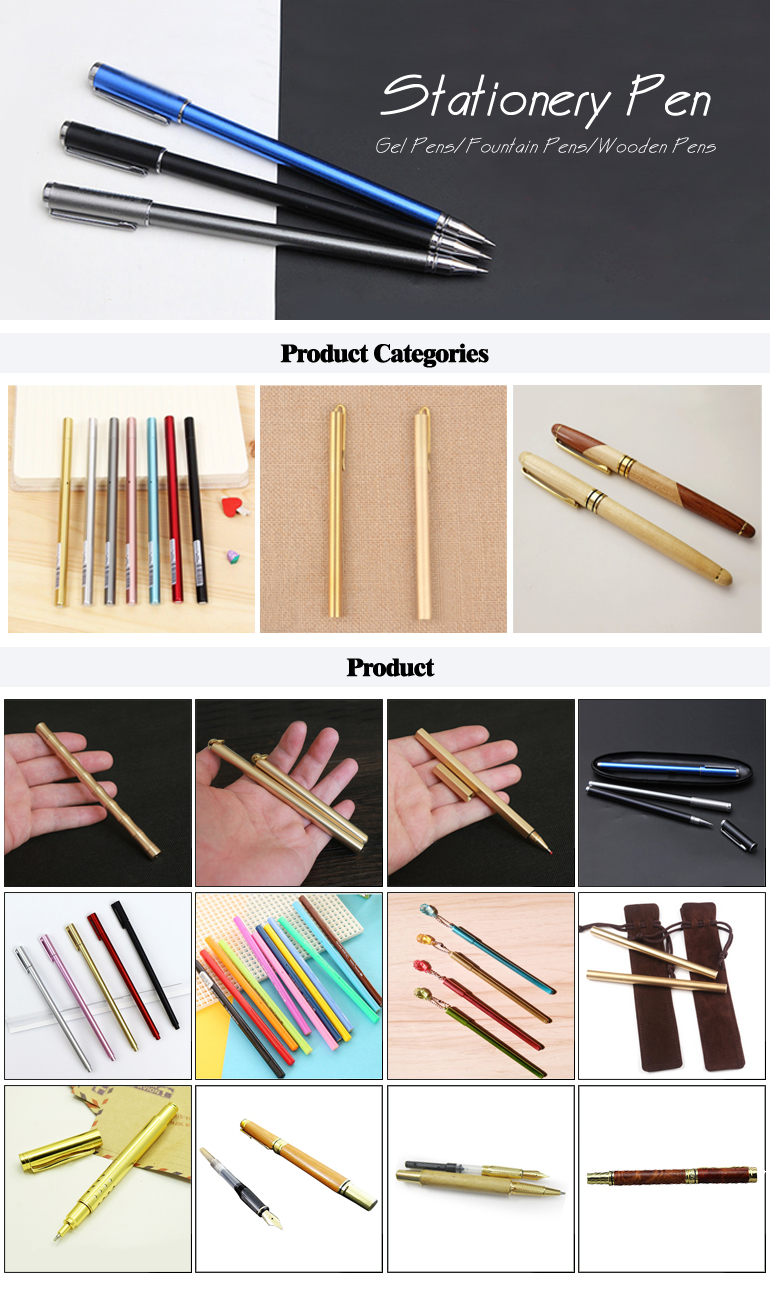 Gold Silk Wood Pen Customized Logo Gift Gel Pen