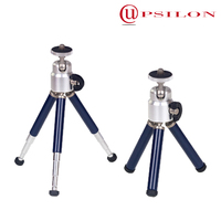 Telescopic professional video tripod with 5 sections