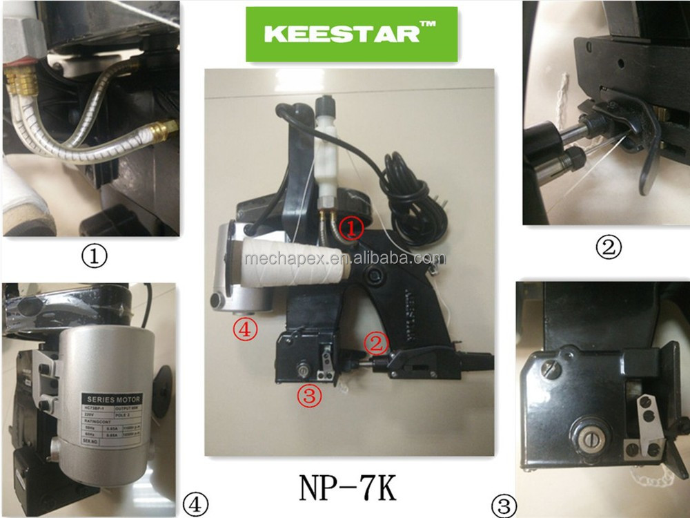 Keestar NP-7K single thread portable bag closer machine
