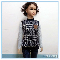 Autumn and Winter Korean style children clothes boy's loop gage knit fabric T shirt