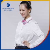 women office daily wear suits uniform with cotton plaid or nylon fabric