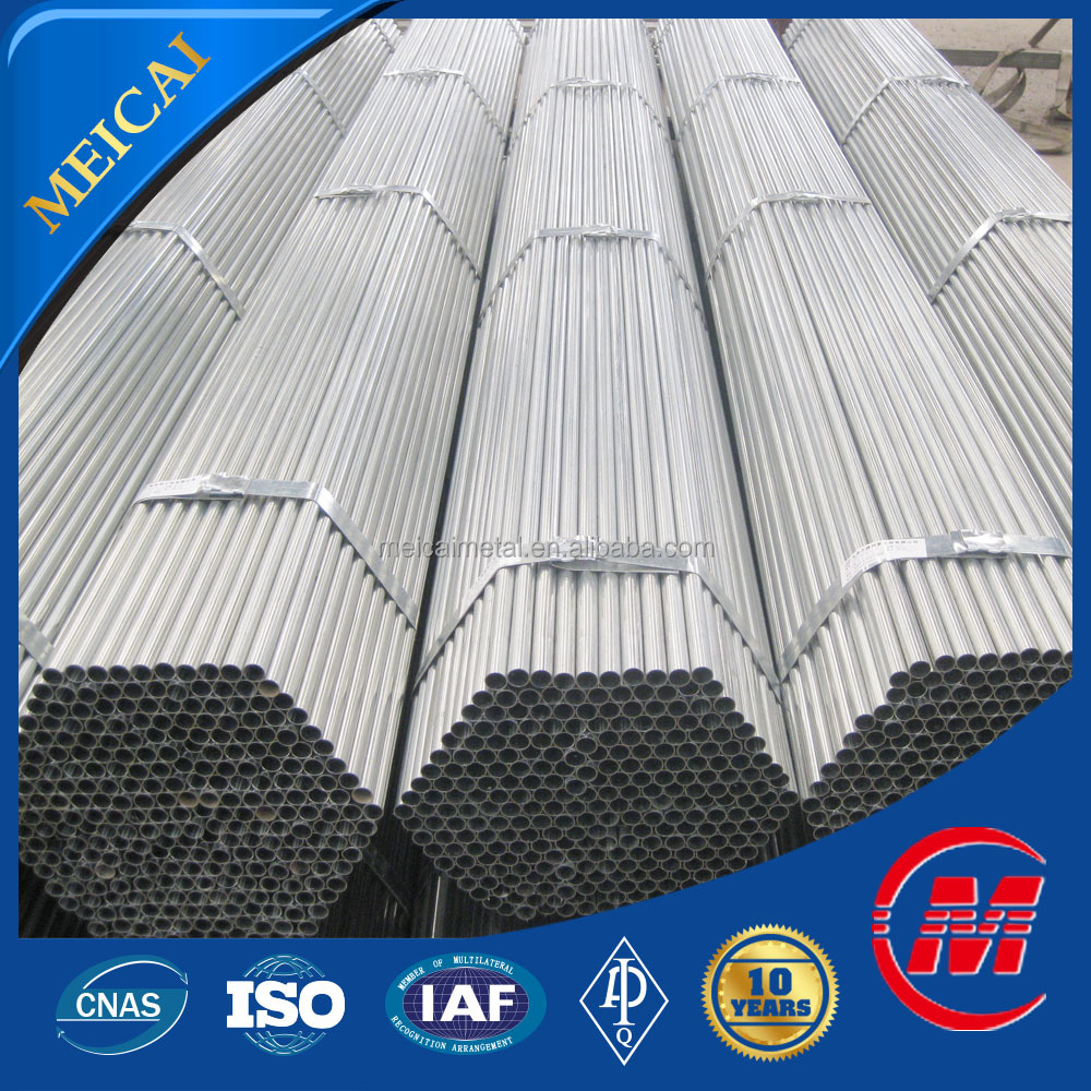 hollow section bs1387 hot dipped galvanized steel pipe