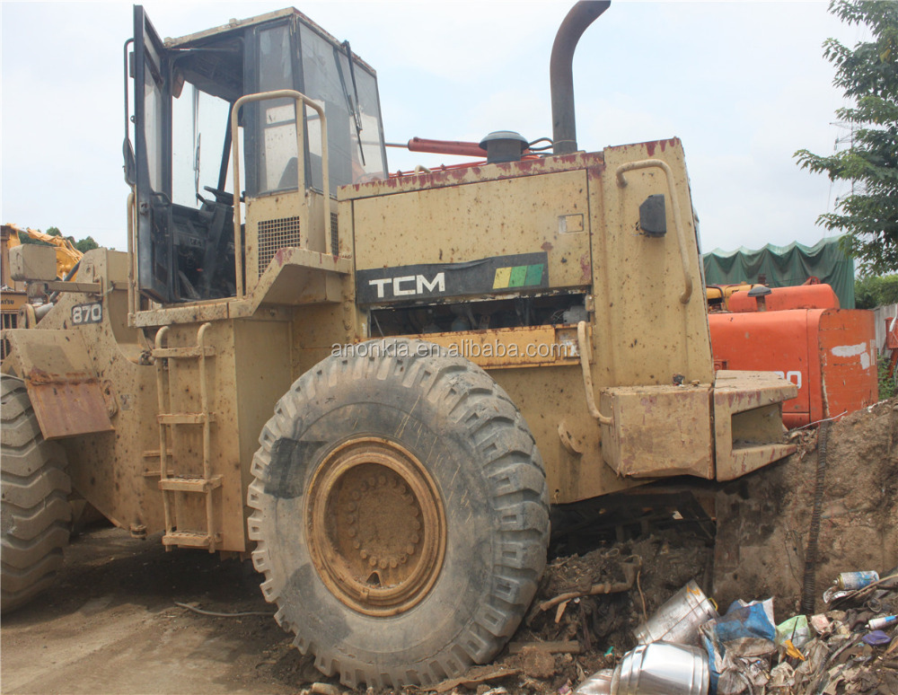 cheappest price 100% orginal japan 870 used TCM wheel loader
