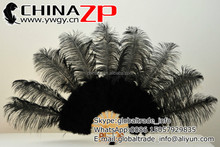 Wholesale Cheap Handmade Bamboo Staves Belly Dance Black Ostrich Feather Fans