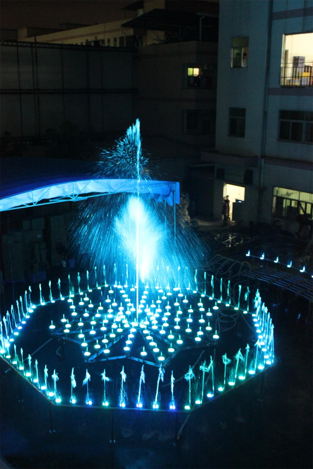 programable outdoor musical dancing dry fountain