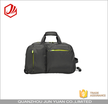 Wholesale dark gray trolley travel bags with rolling trolley duffel bag