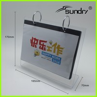 Wholesale printable paper desk calendar with calendar photo frame function