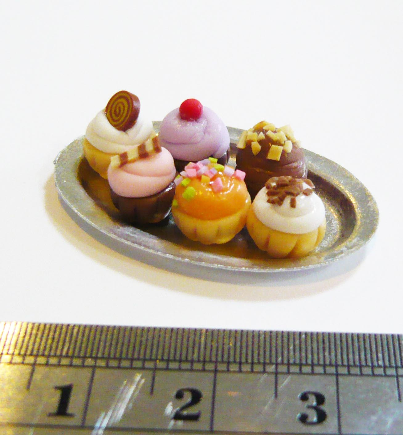 miniature clay cupcakes