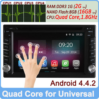 Ownice C200 Quad Core Pure Android 4.4.2 Universal Car radio 2-din Support OBD DVR TPMS Built-in Wifi