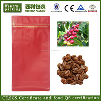 Wholesale stand up coffee bag, flat box coffee bag, square block bottom coffee bag