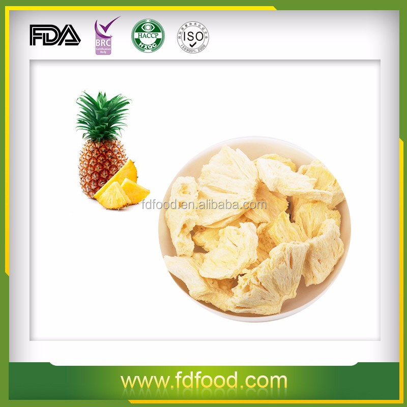 High qulaity freeze dried dried pineapple for sale