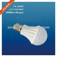 SYW 2014 A60 E27 Ceramic Housing indoor home use 3w 5w 7w 9w light bulbs led
