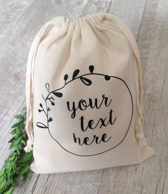 Wholesale Customized Gift Bag Natural Gift Wrap Personalized