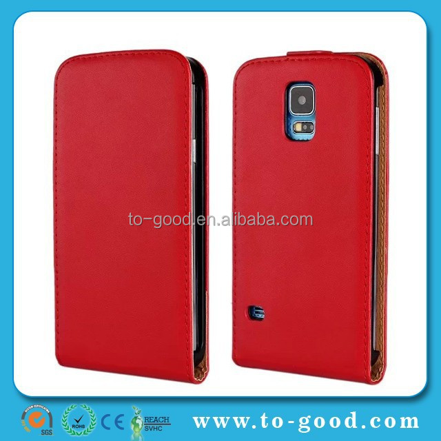Luxury 2015 OEM Android Flip Phone Case Custom Cell Phone Housing For Samsung Galaxy S5 (Red)
