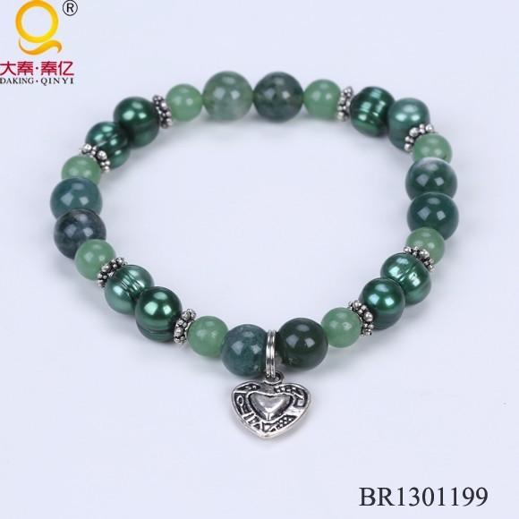Pearl and stone beads fashion bracelets